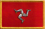 Isle of Man Embroidered Flag Patch, style 08.